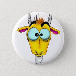 Capricorn Cartoon 6 Cm Round Badge