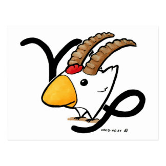 Capricorn Chicken Postcard