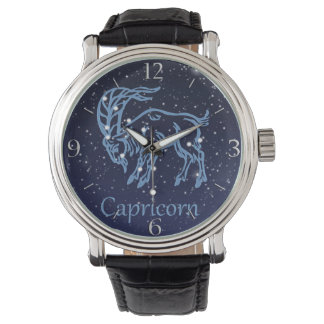 Capricorn Constellation and Zodiac Sign with Stars Wrist Watch