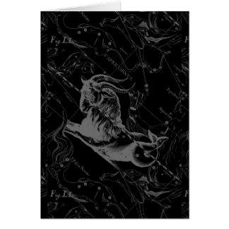 Capricorn Constellation Map Hevelius Engraving Card