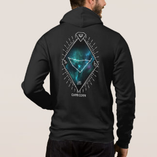 Capricorn Constellation & Zodiac Symbol Zip Hoodie