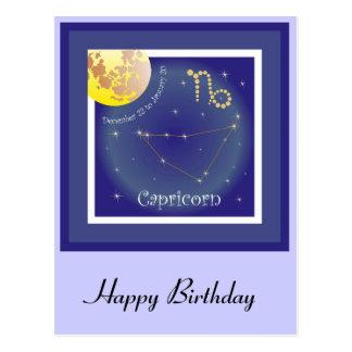 Capricorn December 22 tons of January 20 postcard