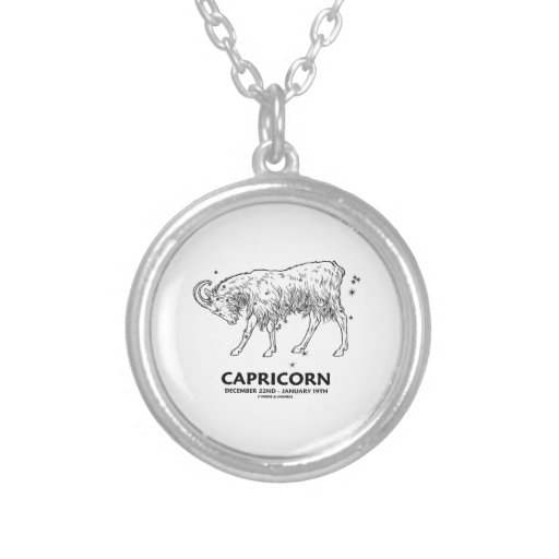 Capricorn (December 22nd - January 19th) Necklace