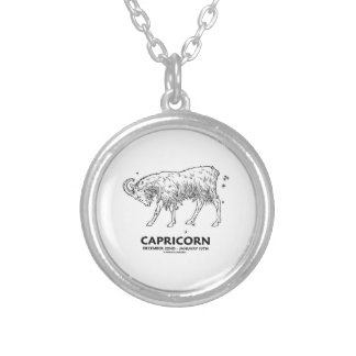 Capricorn (December 22nd - January 19th) Silver Plated Necklace