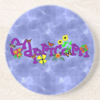 Capricorn Flowers Drink Coasters
