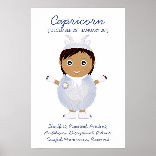 Capricorn - Girl Horoscope Poster