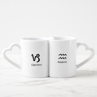 Capricorn goat and Aquarius Zodiac Astrology Coffee Mug Set