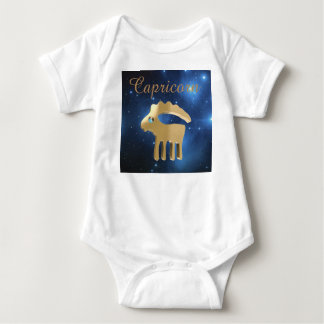 Capricorn golden sign baby bodysuit