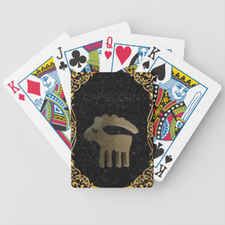 Capricorn golden sign bicycle playing cards