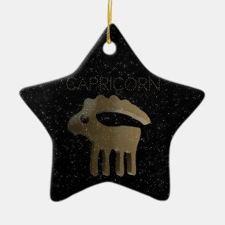 Capricorn golden sign ceramic star decoration