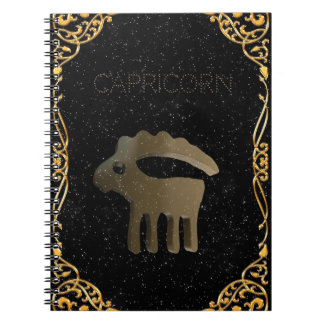 Capricorn golden sign notebook