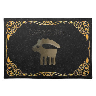 Capricorn golden sign placemat