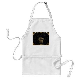 Capricorn golden sign standard apron