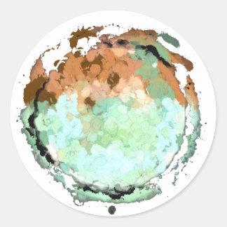 Capricorn Green Brown Moon Sticker