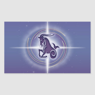 Capricorn Horoscope Lavender Rectangular Sticker