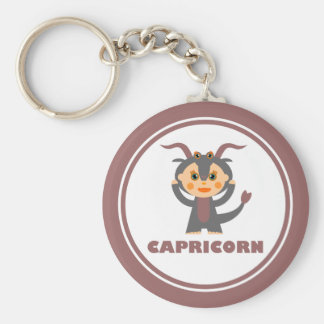 Capricorn is my sign basic round button key ring