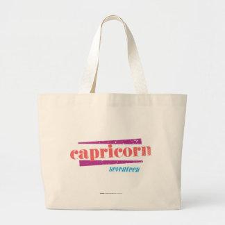 Capricorn Lt. Pink Large Tote Bag