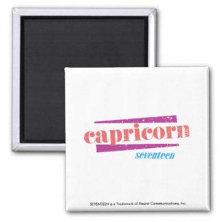 Capricorn Lt. Pink Square Magnet