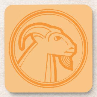 Capricorn Orange Coaster