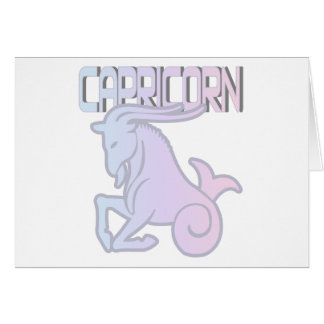 Capricorn Pastels Greeting Card