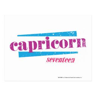Capricorn Purple Postcard