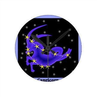 Capricorn Round Clock