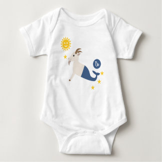 Capricorn sea goat baby bodysuit zodiac star sign