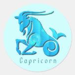 Capricorn Sign Aqua Sticker