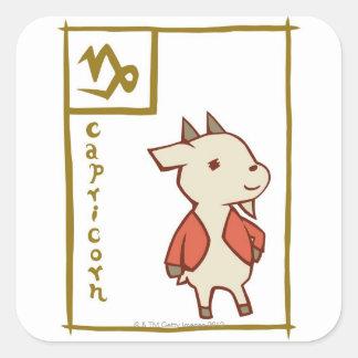 Capricorn Square Sticker