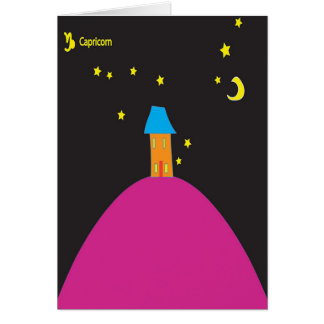 Capricorn Star Sign Birthday Card