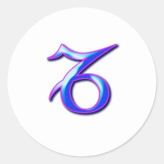 Capricorn Round Stickers