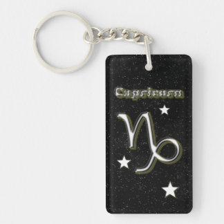 Capricorn symbol key ring