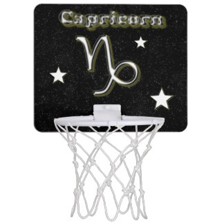 Capricorn symbol mini basketball hoop