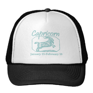 Capricorn Teal Cap