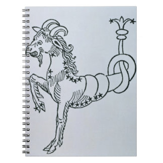 Capricorn (the Goat) an illustration from the 'Poe Spiral Notebook