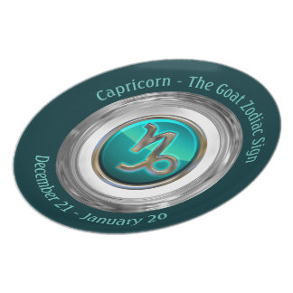 Capricorn - The Goat Astrological Sign Plate