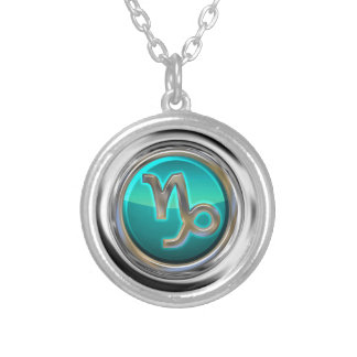 Capricorn - The Goat Astrological Sign Silver Plated Necklace