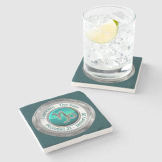 Capricorn - The Goat Astrological Sign Stone Beverage Coaster