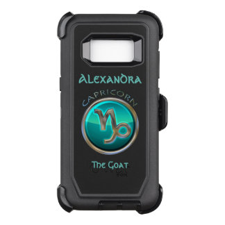 Capricorn - The Goat Horoscope Sign OtterBox Defender Samsung Galaxy S8 Case