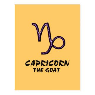 Capricorn the goat postcard