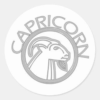 Capricorn the Goat Round Sticker