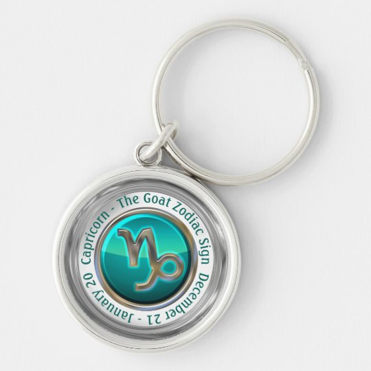 Capricorn - The Goat Zodiac Sign Key Ring