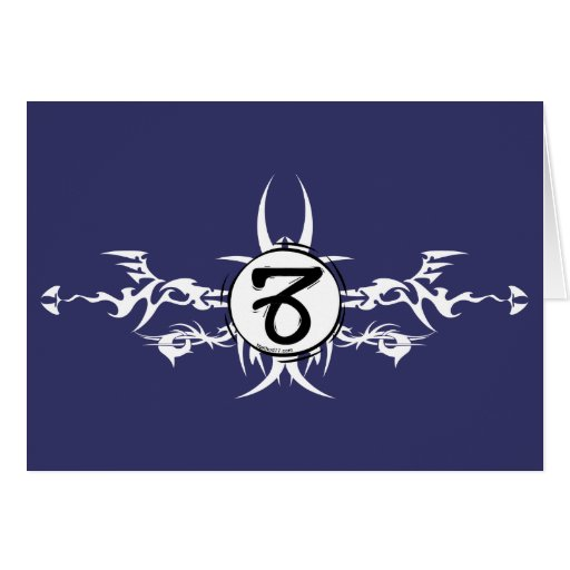 Capricorn Tribal Card