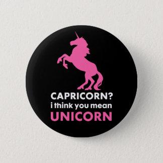 Capricorn Unicorn Badge Pin Button