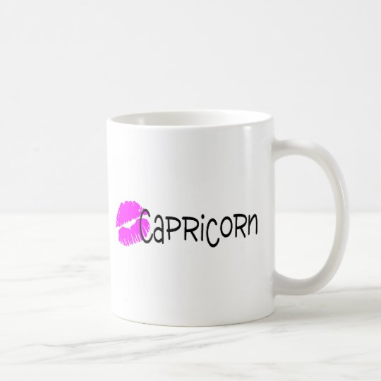 Capricorn with Pink KIss Coffee Mug