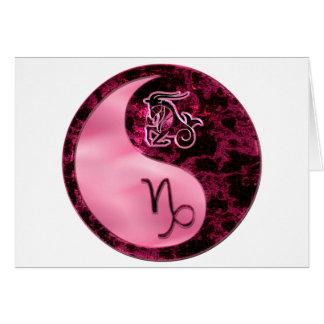 Capricorn Yin Yang Card
