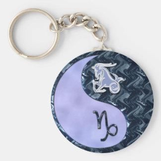 Capricorn Yin Yang Key Ring
