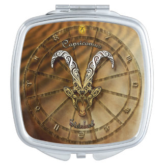 Capricorn Zodiac Astrology design Mirrors For Makeup