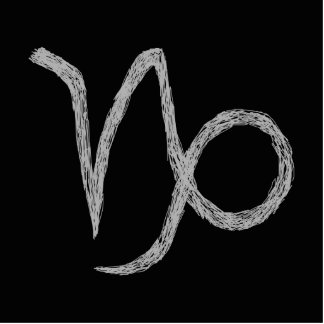 Capricorn Zodiac Astrology Sign Black Photo Cutout
