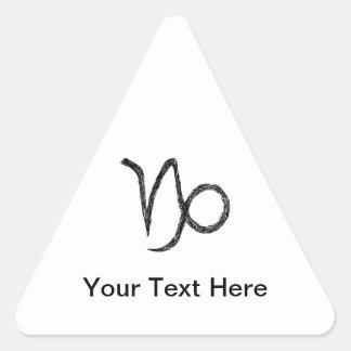 Capricorn. Zodiac Astrology Sign. Triangle Sticker